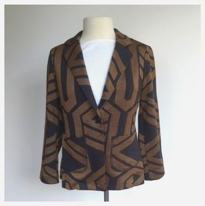 Chico's Women Size 1 Geometric One Button Blazer